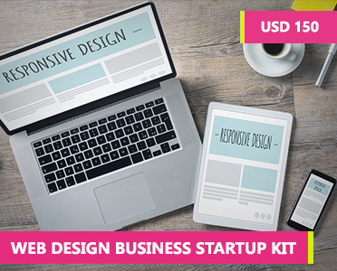 Web Design Business Startup Kit - how to start a web design business with no experience - how to become a web designer from home - web design business plan - Online courses